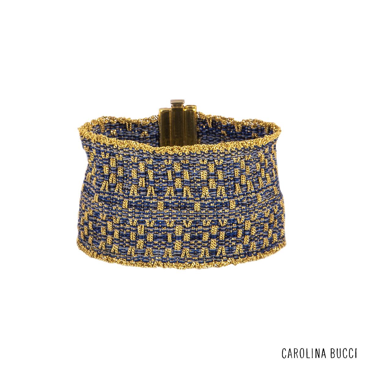 Carolina Bucci Yellow Gold Mesh Bracelet